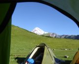 Obóz pierwszy z widokiem na Kazbek