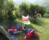 Obóz po zdobyciu góry