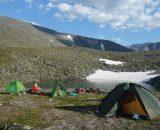 Obóz II pod szczytem, w rezerwacie z pięknymi jeziorkami