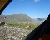 Widok z namiotu w naszym rezerwacie ;)