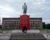 Główny plac w Incie oczywiście z pomnikiem Lenina