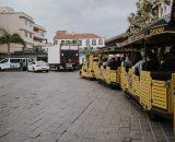 Do Loro Parque z centrum Puerto jeździ darmowa ciuchcia